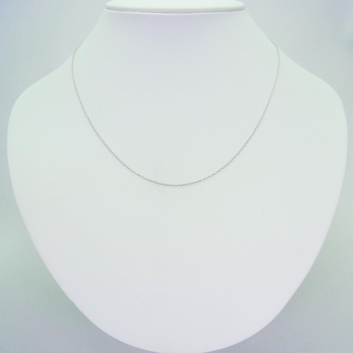 Pt850(プラチナ850) アズキ チェーン 45cm[ch-23]