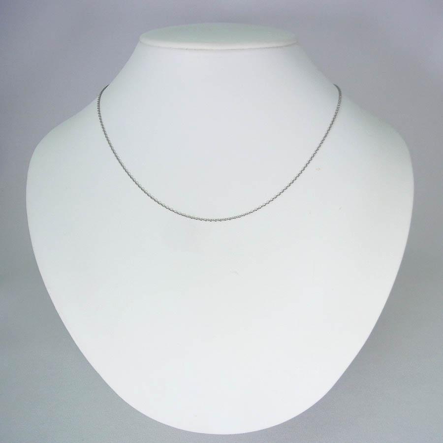 【新品】 Pt850 小豆(アズキ) スライドチェーン 50cm[ch26]