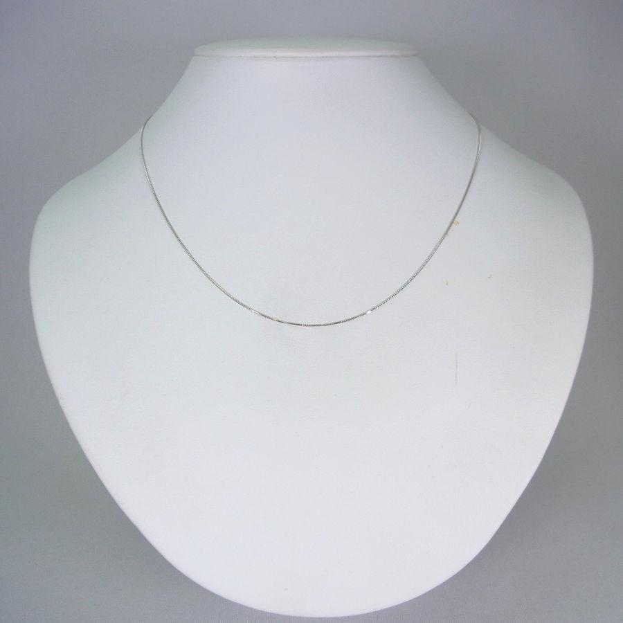 【新品】 K18ホワイトゴールド ベネチアン スライドチェーン 45cm[ch73]