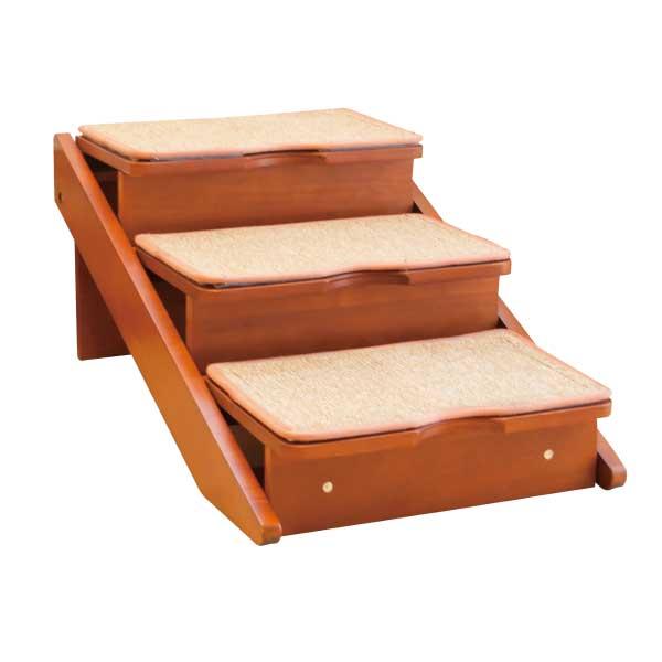 木製2wayステップ 3段タイプ 小型犬・足の短い犬種の昇り降りに ペット用階段 スロープ【送料無料】(※北海道・沖縄・離島は別途送料525円です)