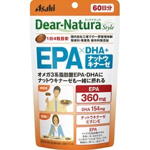 オメガ3系脂肪酸EPA・DHAにナットウキナーゼも一緒に摂れる 【アサヒ】 ディアナチュラスタイル EPA×DHA+ナットウキナーゼ 240粒入 【健康食品】