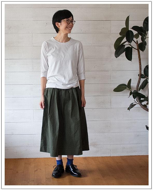 TIGRE BROCANTE(ティグルブロカンテ)Pocket Ficelle Skirtポケットフィセルスカート