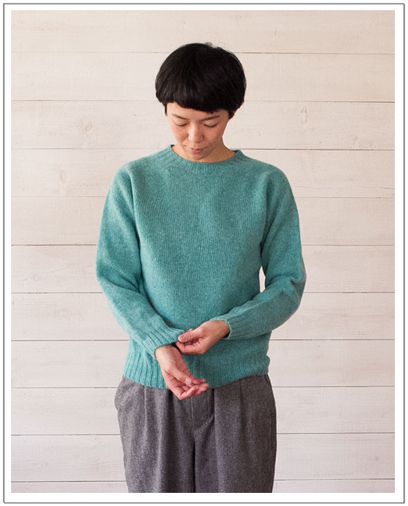 INVERALLAN(インバーアラン)シェトランドクルーネックセーター(WOMEN)【正規品】
