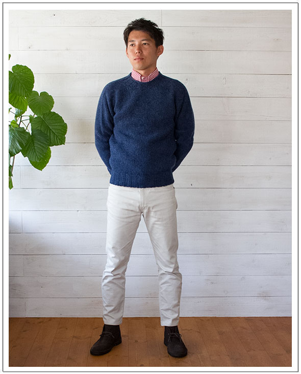 INVERALLAN(インバーアラン)シェトランドクルーネック2.5G(Men's)【正規品】