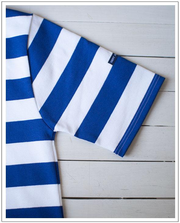 """圣雅各书 (雅) OUESSANT 韦森粗边框的短袖短袖 basqueshats""""边界""""[人]"""