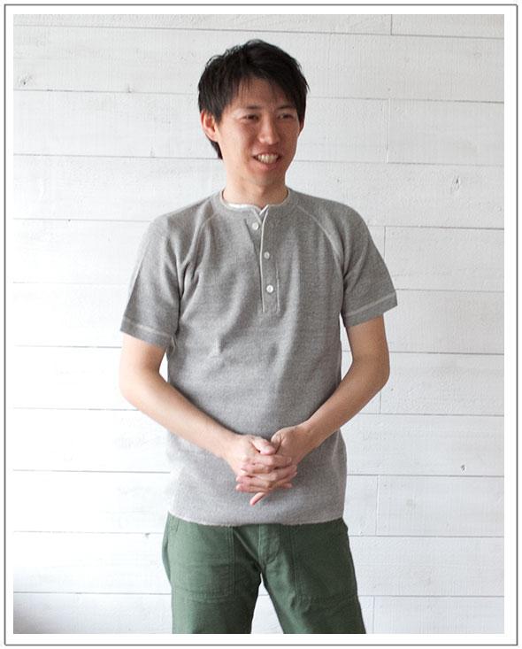 FilMelange(フィルメランジェ)ROBIN[Men's]サーマルヘンリーネック半袖Tシャツ