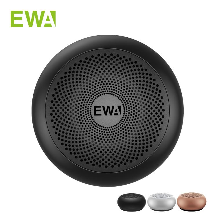 クリアな高音と低音を実現 専用ケース付属で携帯性も 正規代理店 EWA A110mini Bluetooth スピーカー 送料無料限定セール中 カラビナ付き 専用ケース Bluetooth5.0 150 ブラック カード micro-USB シルバー 1年保証 ピンクゴールド まるい 新登場 再生 正規輸入代理店