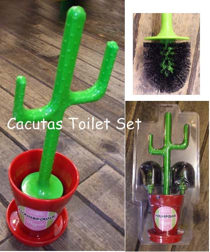biga(Vigar)仙人掌厕所安排(厕所刷子)Cactus toilet setDULTON、多尔顿