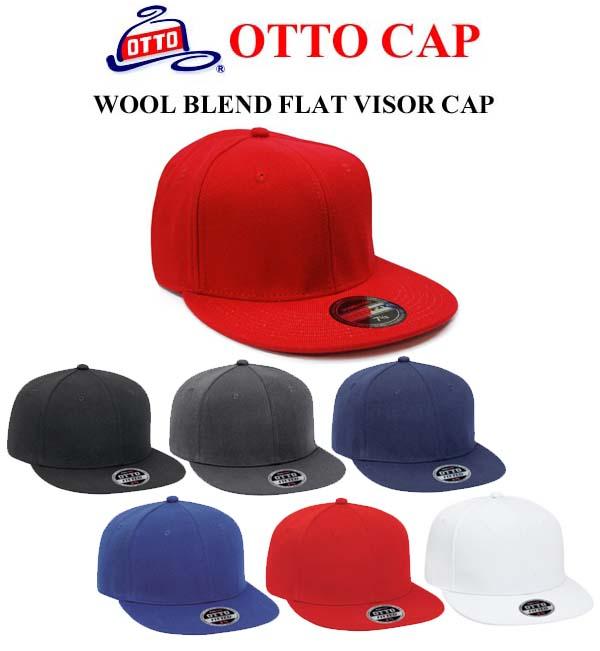 無地キャップ【OTTO FIT ウールブレンド フラットバイザーキャップ(フィットキャップ)Wool Blend Flat Visor Fitted Pro Style Caps (H0969) アジャスター無し・帽子・メンズ・レディース  3サイズ【1012】