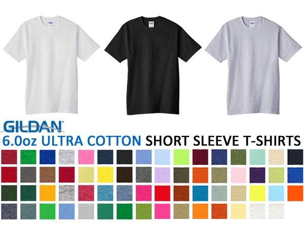 【アダルトサイズ】【カラー1】【ウルトラコットン】GILDAN(ギルダン)6.0oz Tシャツ(無地・半袖・メンズ)【0702】◎