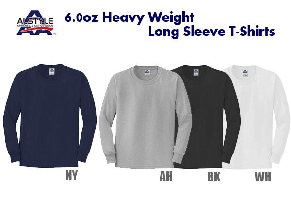 ALSTYLE(アルスタイル)6.0oz ヘヴィウェイト ロングスリーブ Tシャツ【1304】AAA・長袖・ネックリブシングルステッチ【無地長そでメンズ】ベーシック【0830】