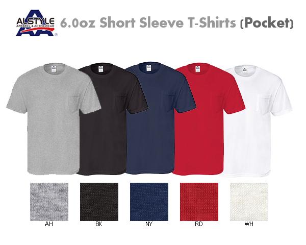 ALSTYLE(アルスタイル)6.0oz ポケット Tシャツ【1305】AAA・【半袖・ショートスリーブ メンズ無地ベーシック胸ポケT】【0629】