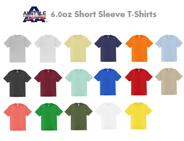 ALSTYLE (アルスタイル)6.0oz ショートスリーブ Tシャツ【1301】AAA・半袖・ネックリブシングルステッチ【無地半そでメンズ】ベーシック【0629】