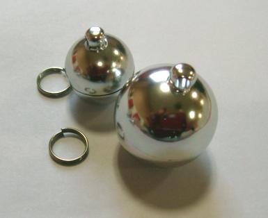 キーホルダーパーツ金具 キーホルダーパーツ ピルケース丸型アルミ製 国際ブランド Mサイズ20mm 二重リング付き 使い勝手の良い