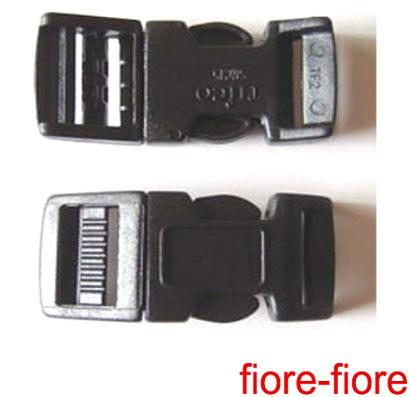 100個セット NIFCO ニフコ テープアジャスターバックルSRC25 25mm クロ