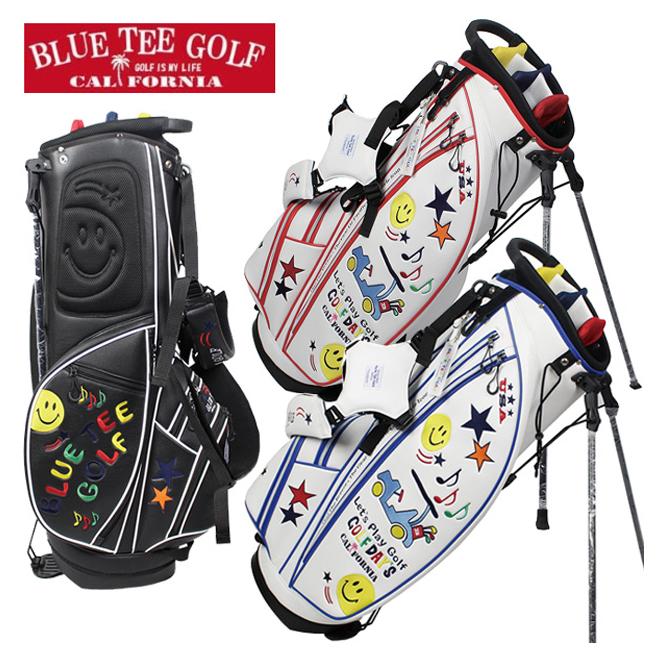 キャディバッグ スマイル&カートスタンドキャディバッグ ブルーティーゴルフ ゴルフバッグ 6分割 CB-008