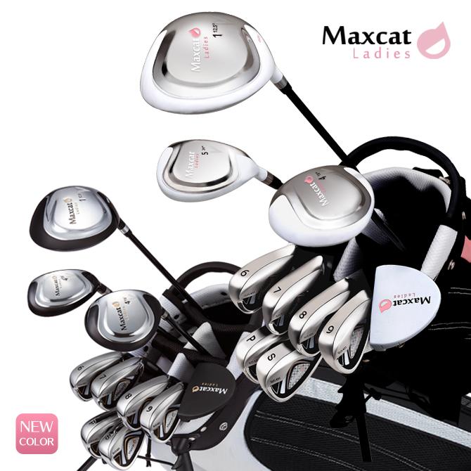 ゴルフ クラブフルセット レディス マックスキャット あす楽対応 MAXCAT クラブセット フルセット フレックスL ゴルフセット