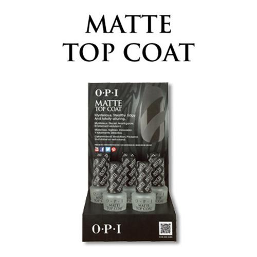 入荷予定 美しく鮮やかな発色と光沢を数週間キープします OPI オーピーアイ ディスプレー 人気商品 8本 マットトップコート