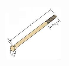 高額売筋 国産品 六角ボルト 片引ボルト M12×300