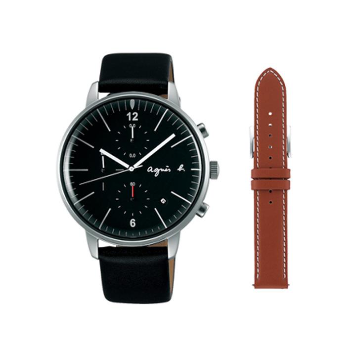 期間限定/ アニエスベー agnes b. 腕時計 メンズ クロノグラフ FCRT972【正規品】【送料無料】