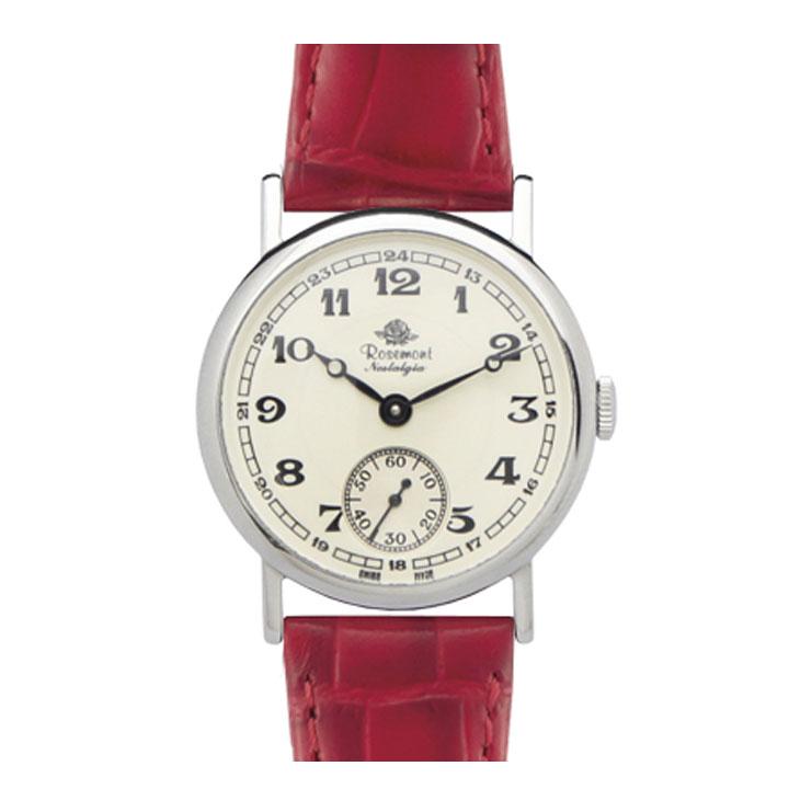 Rosemont Nostalgia 腕時計 レディース N008-SWA ERD ロゼモン 発売モデル 大人気Rosemont 営業 正規品 期間限定 サイズ調整無料 送料無料