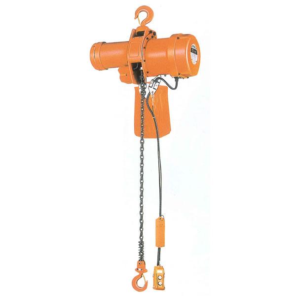ニッチ 電気チェーンブロック MH-5形 懸垂式 三相200V 1.0t 4M 2点押ボタン式