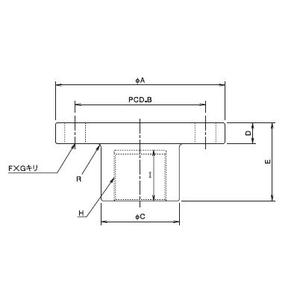 大阪ジャッキ製作所 ウォームジャッキ用フランジ形金具 F-MF01