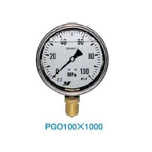 大阪ジャッキ製作所 圧力計 PGO-100X1000