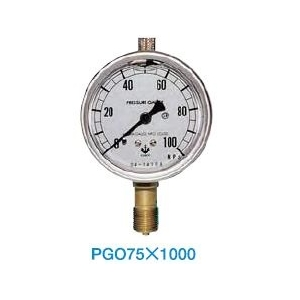 大阪ジャッキ製作所 圧力計 PGO-75X1000