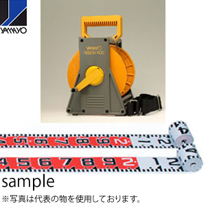 ヤマヨ測定器 リボンロッド両サイド100E1 ケース入 R10A10S 10m 遠距離用現場記録写真用巻尺