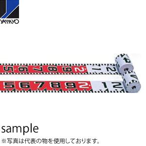 ヤマヨ測定器 リボンロッド両サイド120E1 R12A50 50m 遠距離用現場記録写真用巻尺