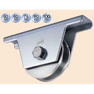 ヨコヅナ 440Cベアリング入ステンレス重量戸車 100 兼用 JCS-1006 1個価格