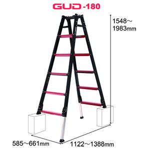 ALINCO(アルインコ) 伸縮脚付はしご兼用脚立 GUD180 GAUDI(ガウディ)