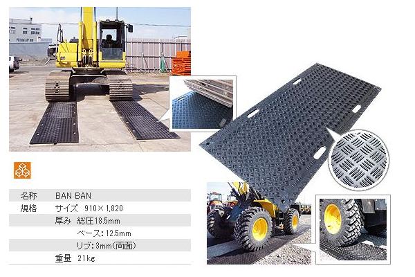 アラオ BANBAN(樹脂製敷板) 両面リブ 厚み18.5×910×1820(mm) [配送制限商品]