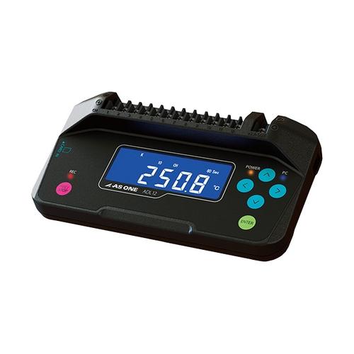 アズワン 12CHデータロガー本体 温度・電圧・湿度測定 167×91×35.8mm 校正証明書付 1個 [3-6823-01-20]