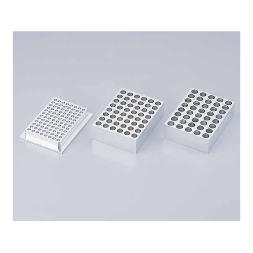 アズワン 超低温アルミブロック恒温槽(クライオポーター)用 0.2mLマイクロチューブ用アルミブロック 1個 [1-7324-02]