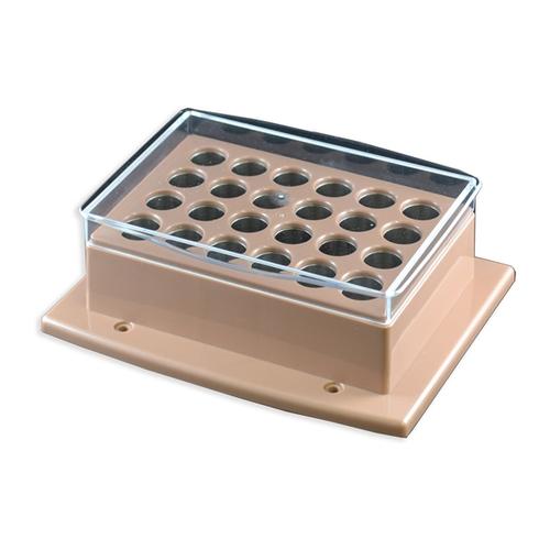 アズワン クール・ホットブロックバス(Thermo Cell)用ブロック φ15mm試験管 24本用 1個 [2-4963-14]