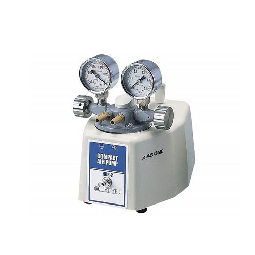 アズワン コンパクトエアーポンプ 吸排両用型 ゲージ付き 1台 [1-361-02]