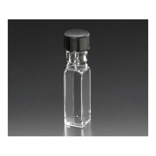 1個 アズワン [1-1299-02] スクリューキャップ付き石英セル(全面透明)
