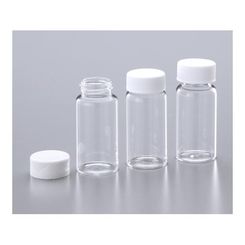 アズワン ガラスシンチレーションバイアル(20mL) キャップ付き包装 ユリアキャップ/コルク・アルミニウムライナー 1箱(100個×5箱入り) [1-2502-01]