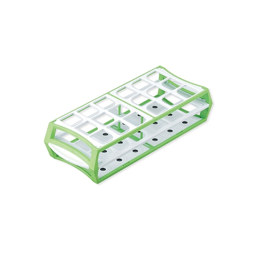 アズワン マルチラック 50mL×18本 グリーン 1箱(10個入り) [1-4311-03]