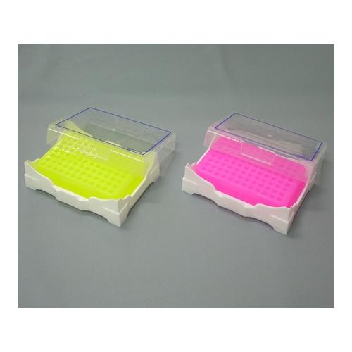 アズワン アイソフリーズPCRラック 緑(冷却時)・黄色(常温時) 1箱(2個入り) [1-5531-02]