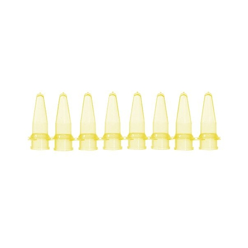 アズワン PCRチューブ 8連0.2mL 黄 125本入 1袋(125本入り) [3-8624-03]