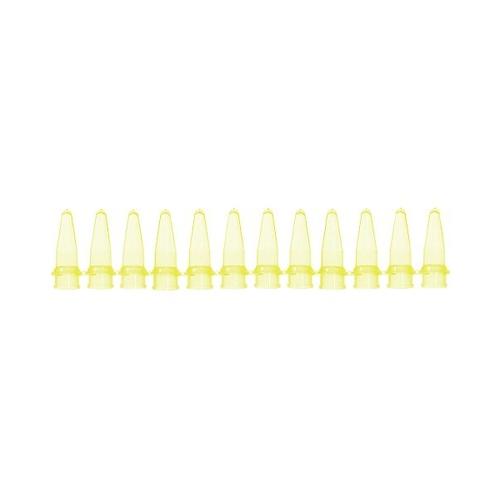 アズワン PCRチューブ 12連0.2mL 黄 125本入 1袋(125本入り) [3-8625-03]