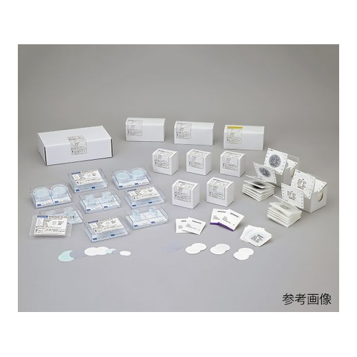 アズワン メンブレンフィルター(微生物/微粒子試験用) ポリカーボネートタイプ 100枚入 1箱(100枚入り) [4-909-23]