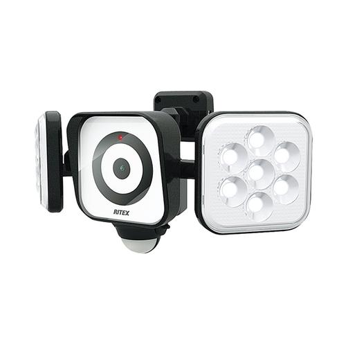 アズワン LEDセンサーライト付き防犯カメラ 1個 [3-8077-01]