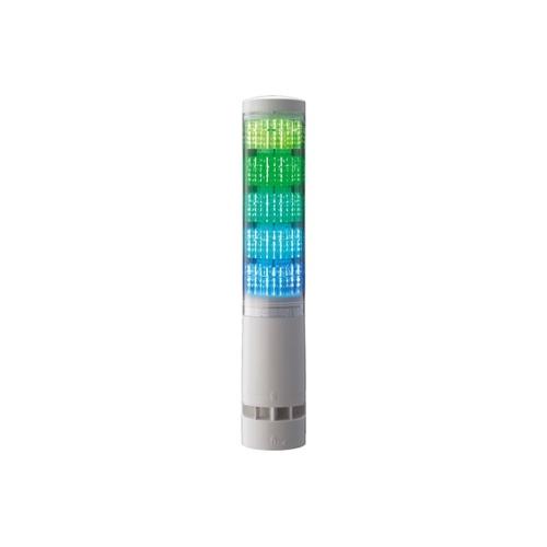 アズワン 積層情報表示灯 60φ ブザーあり オフホワイト 表示灯5色 1個 [62-1613-34]