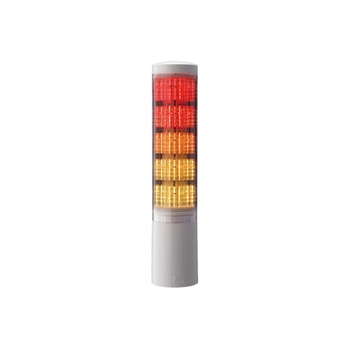 アズワン 積層情報表示灯 60φ ブザーなし オフホワイト 表示灯5色 1個 [62-1613-35]