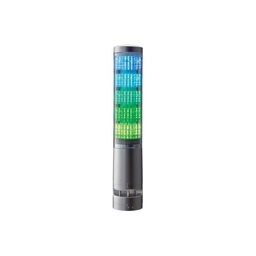 アズワン 積層情報表示灯 60φ ブザーあり シルバー 表示灯5色 1個 [62-1613-36]