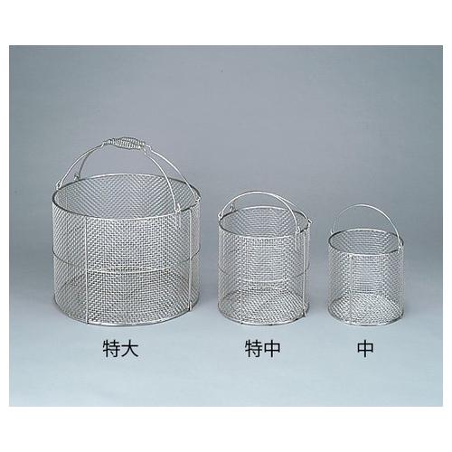 アズワン ステンレス丸型洗浄カゴ 大 φ300×300mm 1個 [4-097-02]
